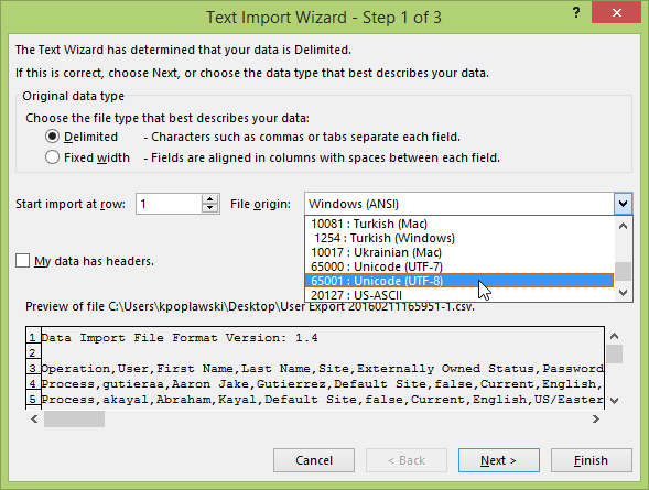 Export users with special characters to Excel – xMatters Support